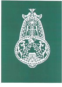 "Original Papercut ""Lithuanian Ornament"" by Lithuanian Traditional Artist"