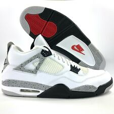 Nike Air Jordan 4 IV Retro OG White Cement Red Grey Black 840606-192 Men's 18