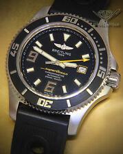 Breitling SuperOcean Steel Black Dial/Rubber Strap 44mm Mens Watch A17391