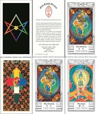 Aleister Crowley Thoth Tarot Deck English 79 Cards 40 pages Booklet Lo Scarabeo