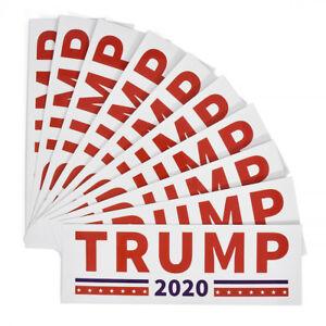 10 Pack 2020 Donald Trump for President Make America Great Again Bumper Sticker