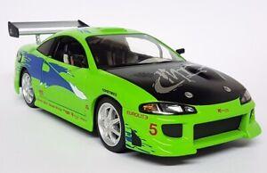 Greenlight 1/18 Scale Fast Furious Brian's 1995 Mitsubishi Eclipse Diecast Model