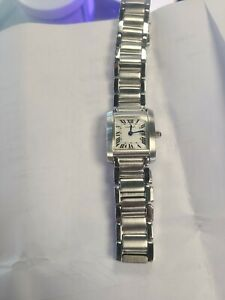 Cartier Stainless Steel Watch Francaise Swiss 2301 Womens Ladies