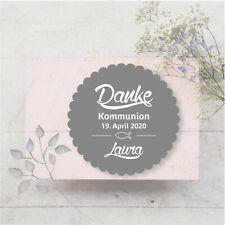 24 Aufkleber Sticker Etiketten Danke Selbstklebend Kommunion Konfirmation Taufe