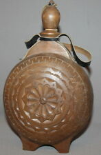 VINTAGE HAND CARVED WOOD WINE BRANDY PITCHER FLASK