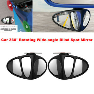 2PC Car 360° Rotating Wide-angle Blind Spot Rearview Mirror for Honda Nissan Kia