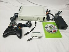 Xbox 360 console bundle tested READ!! MLB 2K9 video game Microsoft white