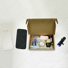 Kit Cristal Samsung Galaxy S4 White & Herramientas Linterna Pegamento UV Blanco