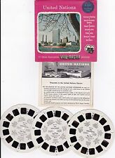 1955 Sawyer's Viewmaster Your United Nations 3 Reel Set W/Package & Booklet