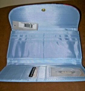 Women's Wallet Credit Cards, Checks Blue with Tie Dye Kenneth Cole Reaction NWT