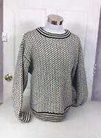 LL BEAN Wool Birdseye Sweater Men's Large