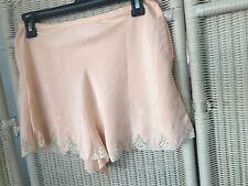 "Peach Tap Pants Bloomers Shorts Lace Rayon Lingerie Vintage 28"" Waist"