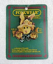 Boyds Folkwear Pin~Mother Rabbit And Her Children~#26407~New