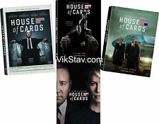 House of Cards: Complete Seasons 1-4 (1,2,3,4) Brand New