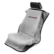 1 - Grey Seat Armour w/New Dodge Logo-Front Seat Cover-Towel Protector-