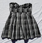 AS NEW Wish Size 14 Dress Strapless Fit and Flare Bandeau Black White Kidare