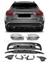 Für Mercedes-Benz GLA X156 GLA45 AMG Look Heckschürze Stoßstange Diffusor ~17