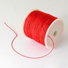 5M fil de nylon , queue de rat , rouge 1mm