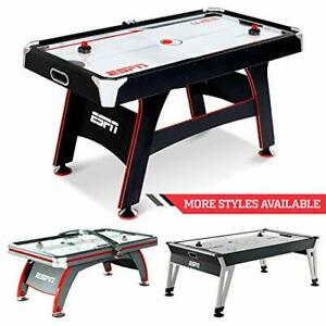 ESPN Air Hockey Game Table Indoor Sports Gaming Table Set with Equipment Acce...