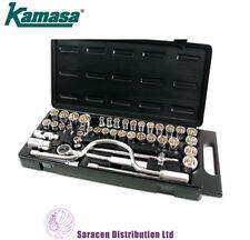 "KAMASA 42PC 1/2""DR SOCKET SET METRIC, IMPERIAL, & WHITWORTH - SS4849"