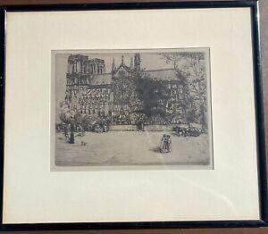 Donald Shaw Maclaughlan, notre-dame de paris, 1900, etching on paper Signed