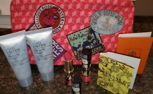 NEW ESTEE LAUDER CANDY LIPSTICK FACE WASH MAKEUP BAG LOT from Macy's