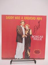 """SIGNED Boxcar Willie """"Daddy Was a Railroad Man"""" LP AUTOGRAPHED 1978 Column One"""