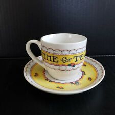Mary Engelbreit Tea Cup & Saucer Time for Tea Andrews McMeel Publishing Me Ink