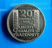 #0519# JOLIE PIECE DE 20 FRANCS TURIN 1933 / SUP