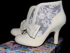Irregular Choice Chaussures Bottes Grin et tonique crème taille 5 RRP £ 115