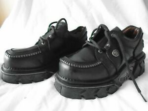 VINTAGE 90s NEW ROCK PLATFORM SHOES CLUBBING GOTH MADE IN SPAIN READ DISCRIPTION