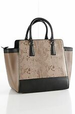 STUNNING GENUINE 100% LEATHER HAND BAG FROM ELLOS BLACK OR BLACK & TAN