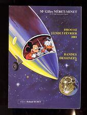 Catalogue Sale Comics Auction Neret Minet 5/02/2001 Cover Mickey