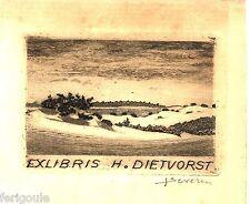 EX-LIBRIS de H. DIETVORST par Severin.