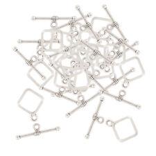 20 Sets Square OT Toggle Clasps Tibetan Silver Clasp Connectors Jewelry DIY