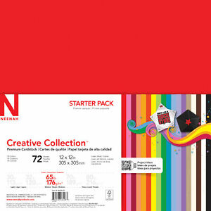 """Neenah Paper Creative Collection Cardstock Starter Pack 12""""X12"""" 72/Pkg-18 Bold &"""