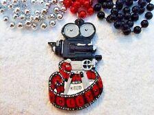 """Hollywood Camera"" Mardi Gras Necklace Bead Movies Theater Film Oscars (B770)"