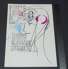 CARTE POSTALE 1er JOUR PHILATELIE 1986 TYPOGRAPHIE REPUBLIQUE FRANCAISE MARIANNE