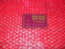Gold Rush Slot Club Frontier Hotel & Gambling Hall Las Vegas punched embossed