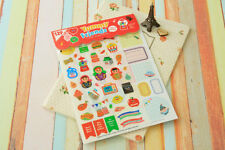 #74 Afrocat Yummy Friends cute decoration cute deco stickers 12 sheets/set