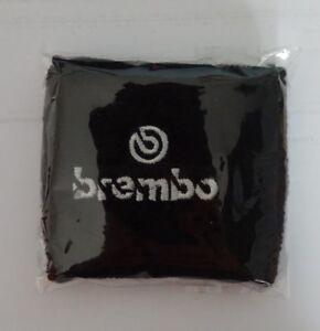 Polsino Moto Serbatoio Olio Freno Frizione logo Brembo Bianco Nero GRANDE