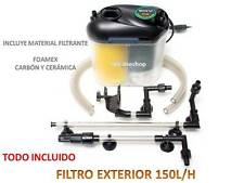 FILTRO EXTERIOR COMPLETO 150L/H 5,5W FOAMEX CARBON CERAMICA para acuario