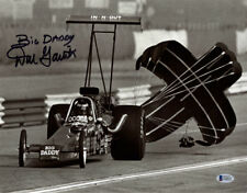 DON GARLITS SIGNED 11x14 PHOTO + BIG DADDY NHRA DRAG RACING LEGEND BECKETT BAS