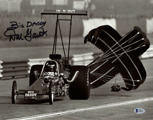 DON GARLITS SIGNED 11x14 PHOTO + BIG DADDY NHRA DRAG RACING LEGEND BECKETT BAS