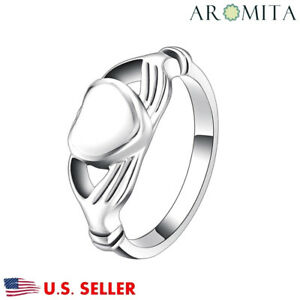 Hands Holding Love Cremation Urn Ring Jewelry Memorial Keepsake Ashes Ring