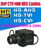 2.0MP 1080P HD-AHD/TVI/CVI 2.8~12/3.5~8/9~22MM Zoom Lens CCTV MINI BOX Camera