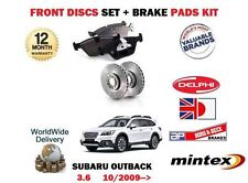 FOR SUBARU OUTBACK 3.6 R BRF 36D 4x4 2009-> NEW FRONT BRAKE  DISCS SET+ PADS KIT