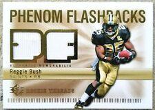REGGIE BUSH 2007 Upper Deck SPx Rookie Threads Phenom Flashbacks GU Card SAINTS