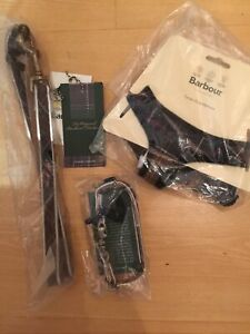 Barbour Tartan Puppy Dog Harness & Lead & Collar Brand New RRP £77 Size S