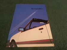 1986 1987 OPEL ASCONA 1.8i Cabrio / Vauxhall Cavalier Convertible DUTCH BROCHURE